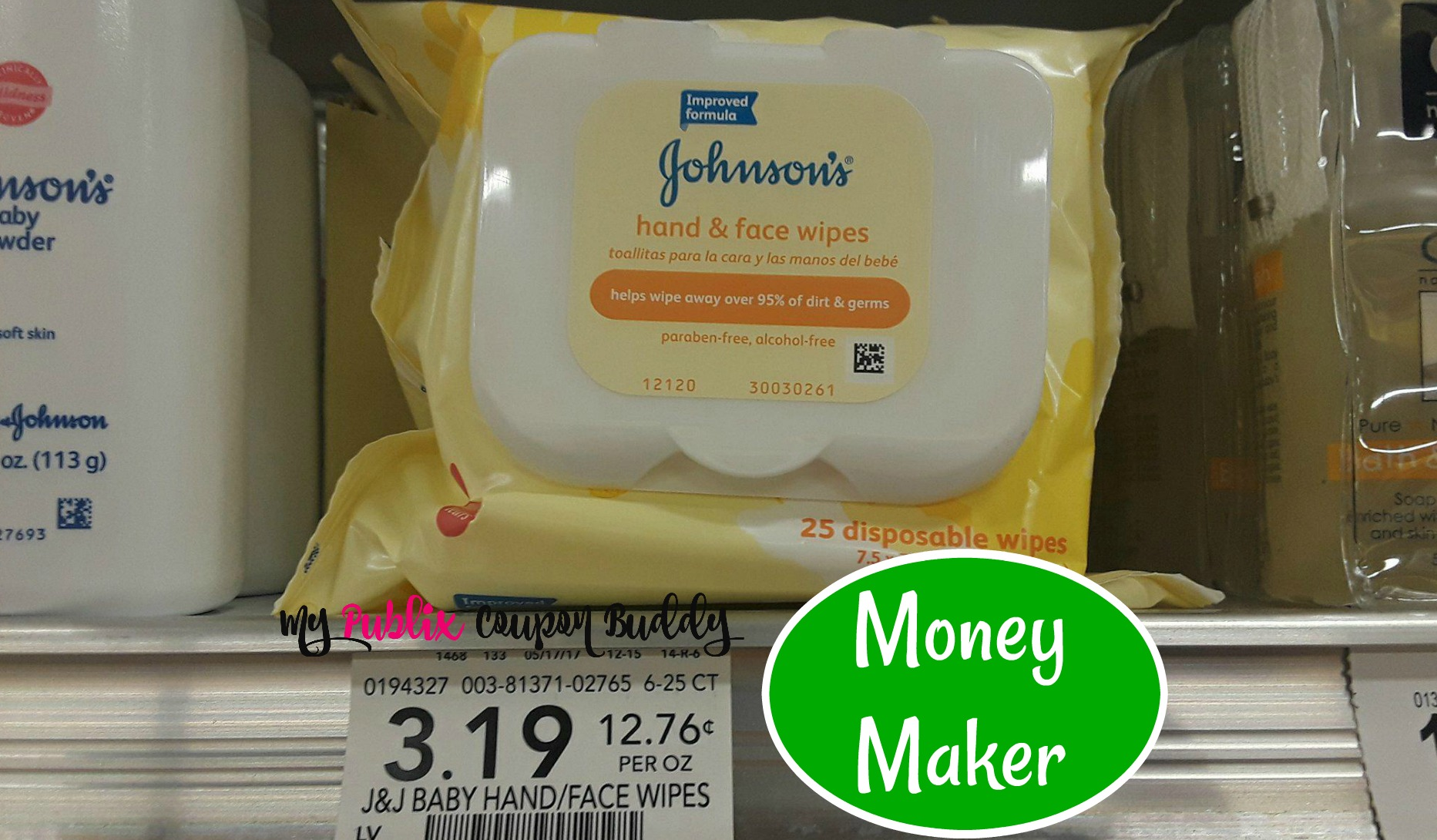 Johnson And Johnson Hand And Face Wipes Coupon