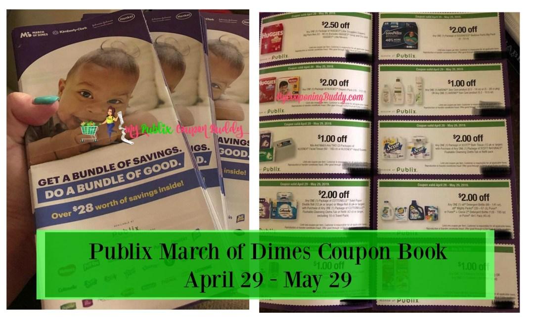 Publix March of Dimes Coupon Book 4/29 – 5/29 Match Ups