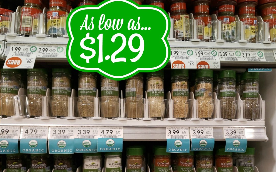 McCormick Spices as low as $1.29 at Publix