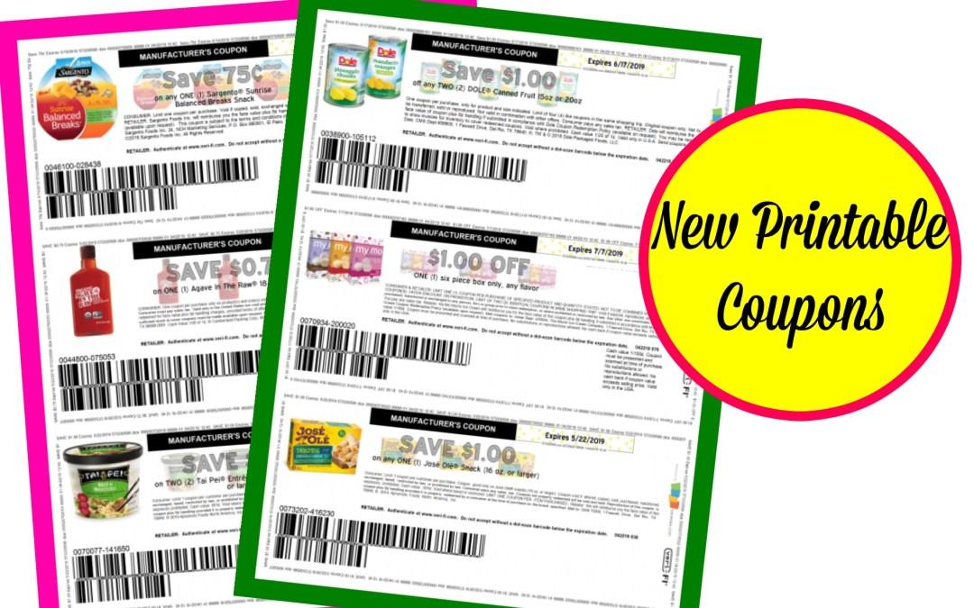New Printable Coupons! Tai Pei, My/Mo Mochi Ice Cream and more