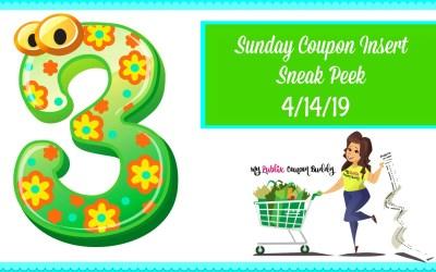 Sunday Coupon Insert Sneak Peek 4/14/19
