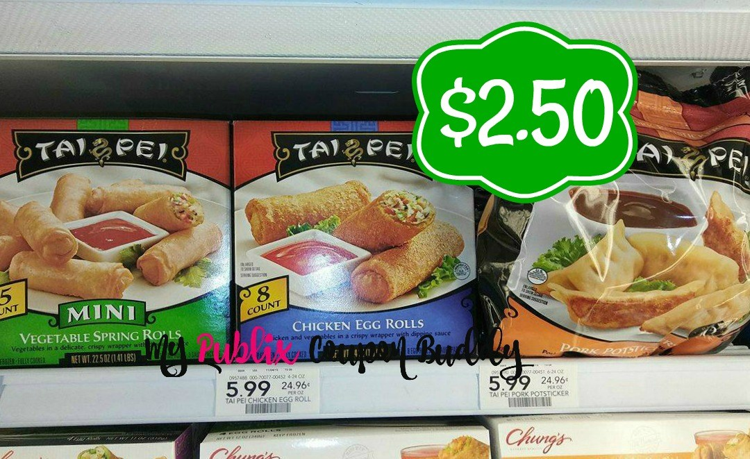 Tai Pei Egg Rolls or Spring Rolls $2.50 at Publix