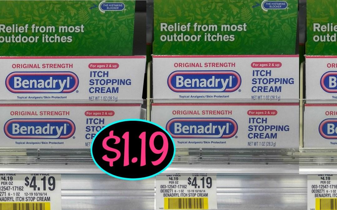 Benadryl Anti Itch Cream $1.19 at Publix