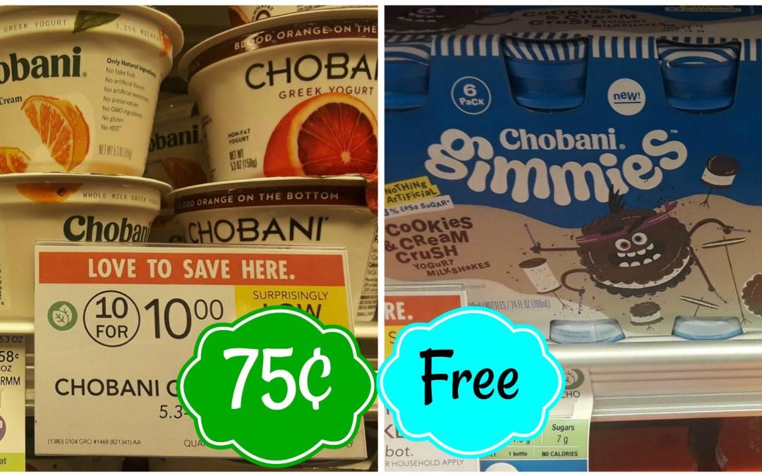 Great deals on Chobani Yogurt at Publix!