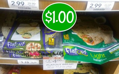 Flat Out bread or Pizza Crust $1 at Publix