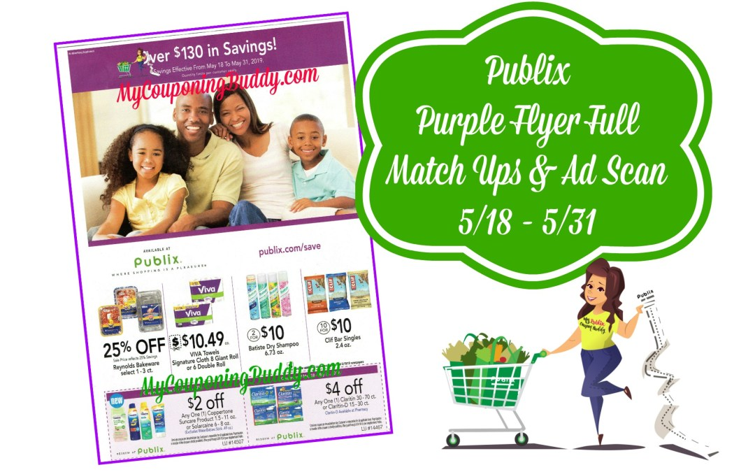 Publix Purple Flyer Full Matchups and Ad Scan 5/18 – 5/31