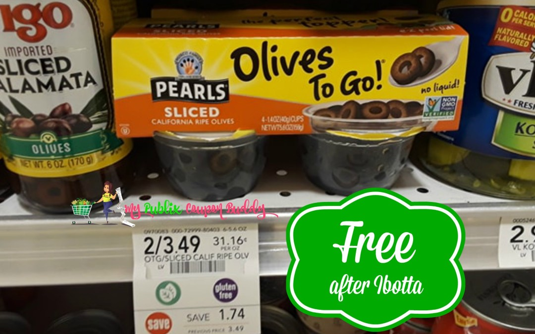 Pearls Olives to Go! FREE after Ibotta at Publix