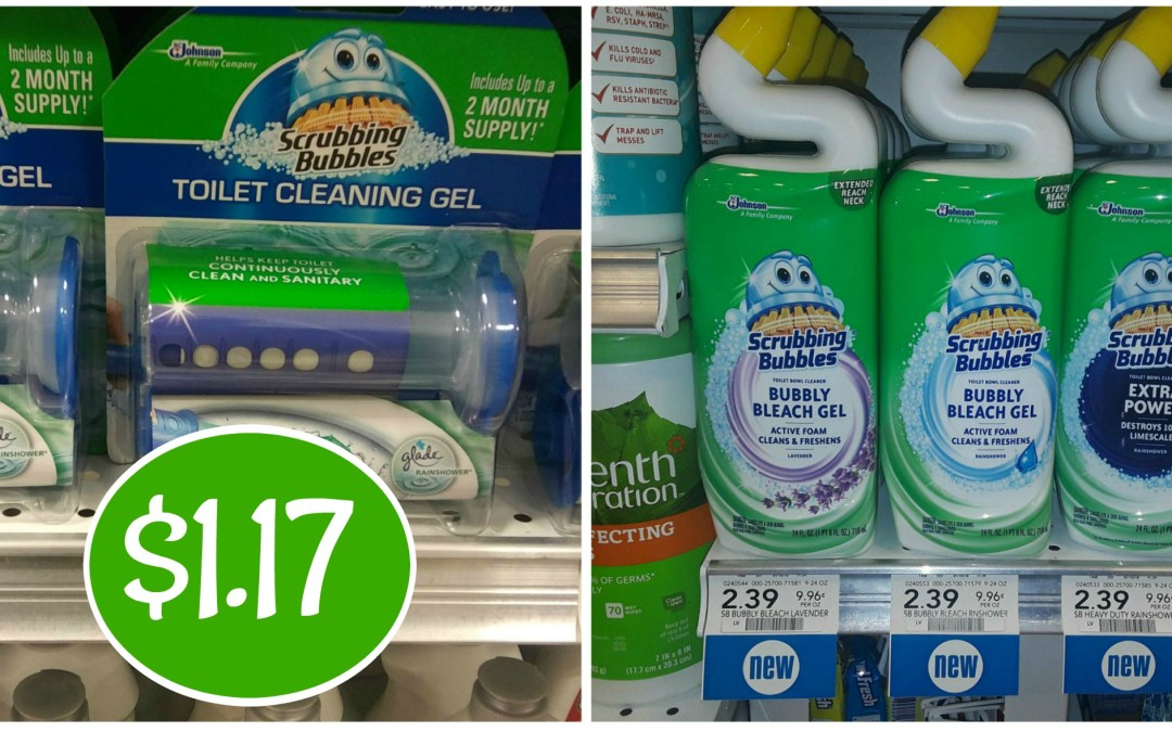 Scrubbing Bubbles Gel & Toilet Bowl Cleaner $1.17 at Publix