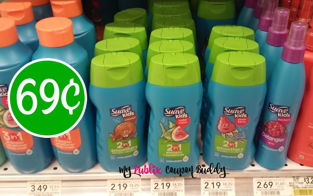 Suave Kids 3in1 69¢ at Publix