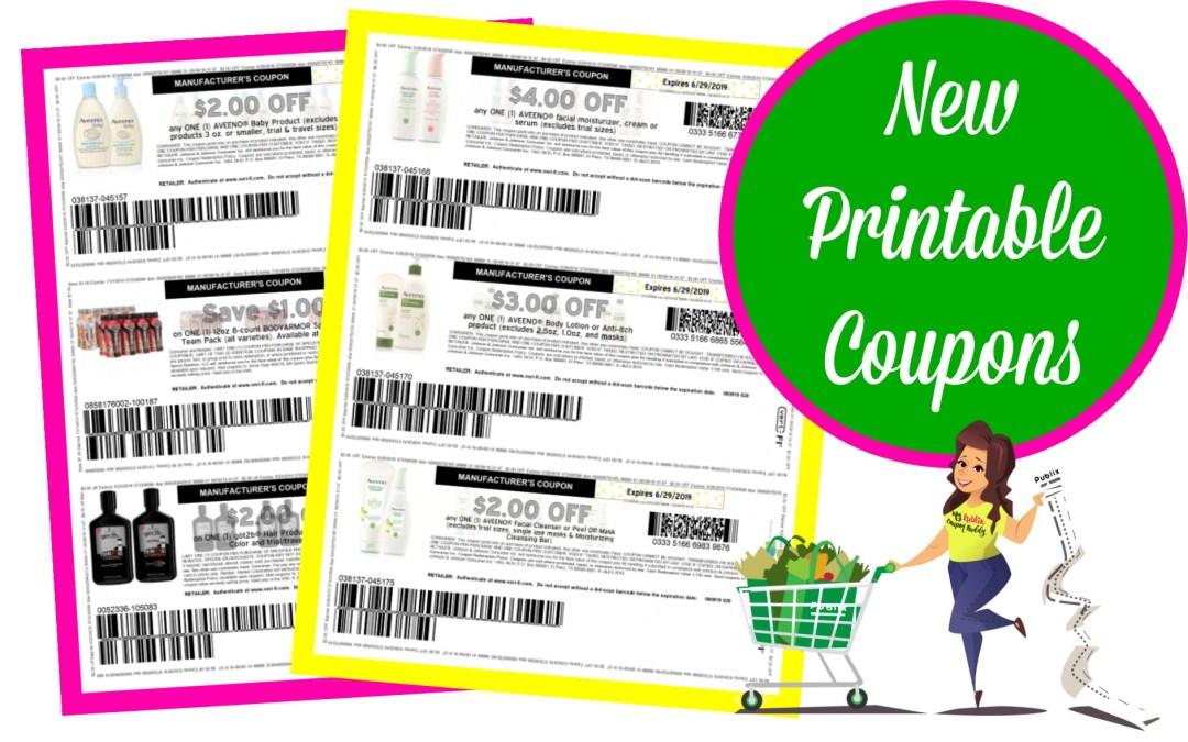 New Printable Coupons ~ Schick, Aveeno, Sundown and more!