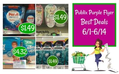 Publix Purple Flyer Best Deals 6/1-6/14