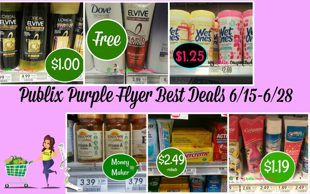 Publix Purple Flyer Best Deals 6/15 -6/28