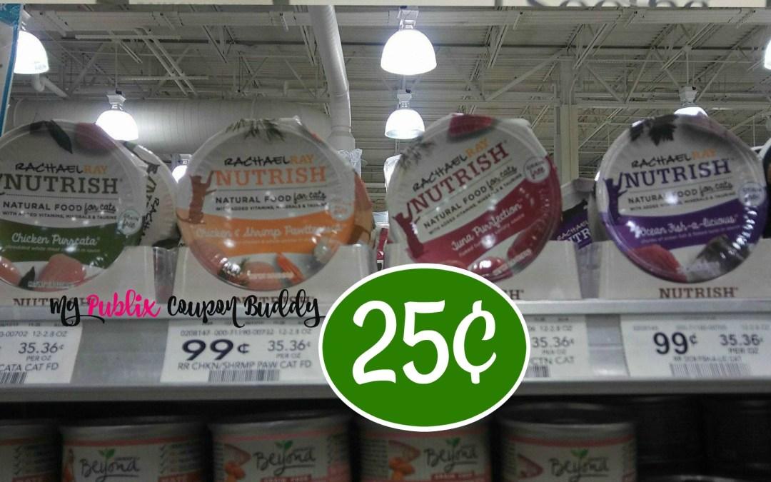 Rachael Ray Nutrish Wet Cat Food25¢ at Publix