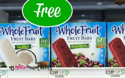 Whole Fruit Bars FREE at Publix ( after coupons & Ibotta)