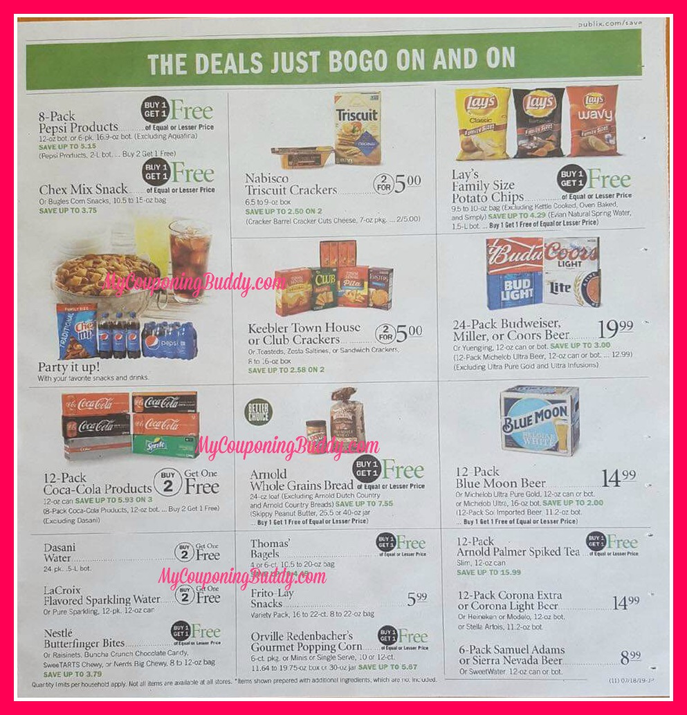 Publix Weekly Sale Full Match Ups & Ad Scan 7/17-7/23 or 7