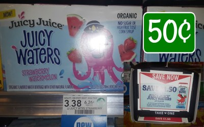 Juicy Juice Roarin Waters 8pk. 50¢ at Publix