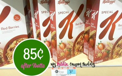 New coupon ~ Kellogg's Special K Cereal 85¢ at Publix (after Ibotta rebate)