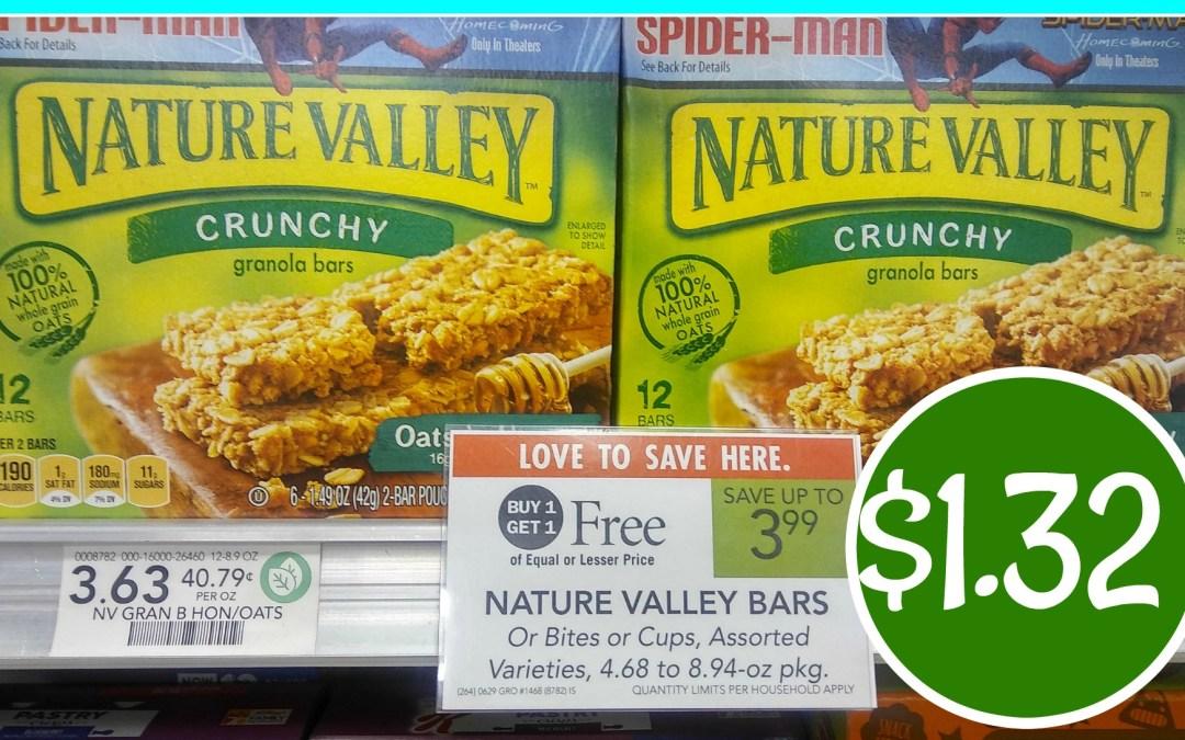 Nature Valley Bars $1.32 at Publix