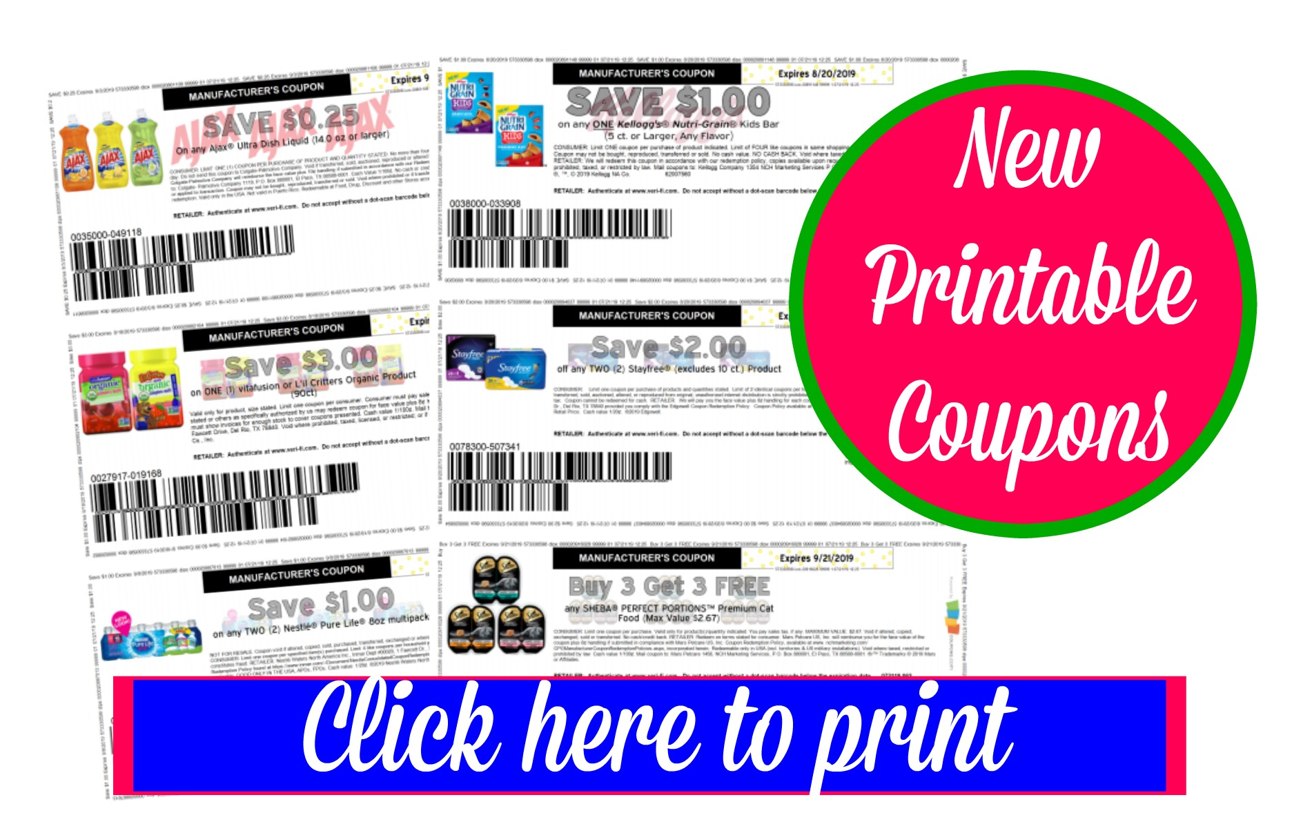 photo about Stayfree Printable Coupon called Around 20 Refreshing Printable Discount coupons ~ Nestle Drinking water, Stayfree and