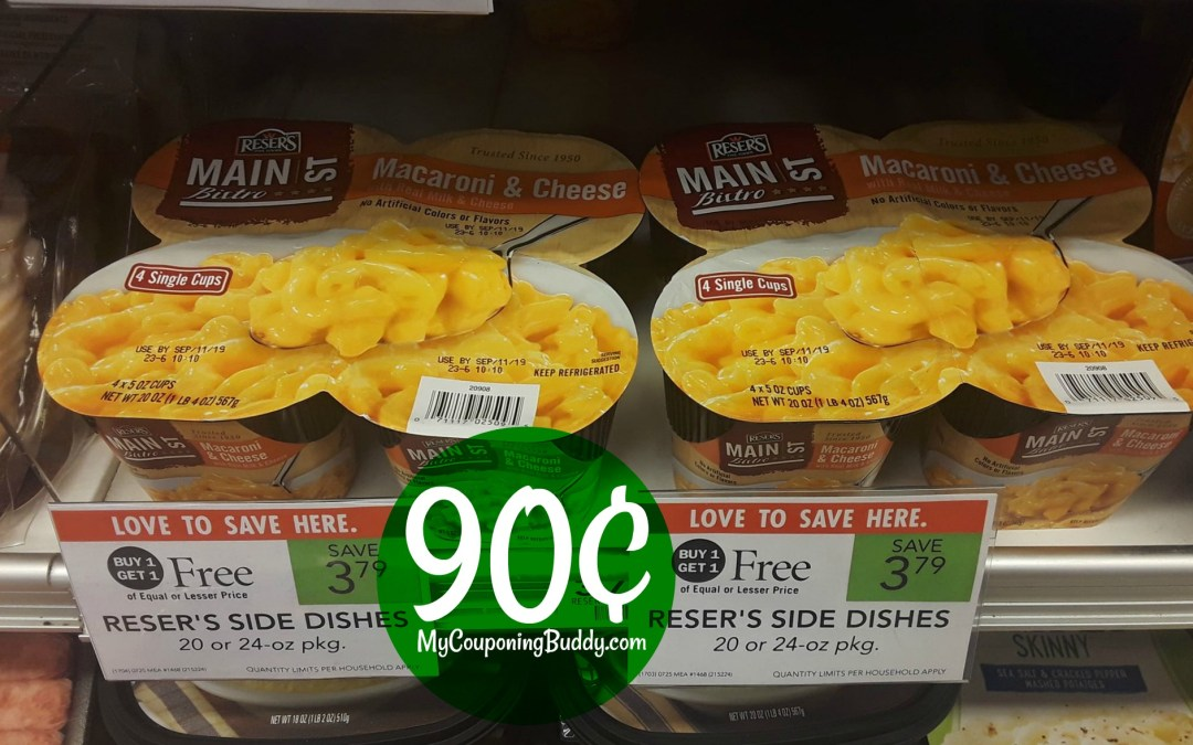 Reser's Sides 90¢ at Publix