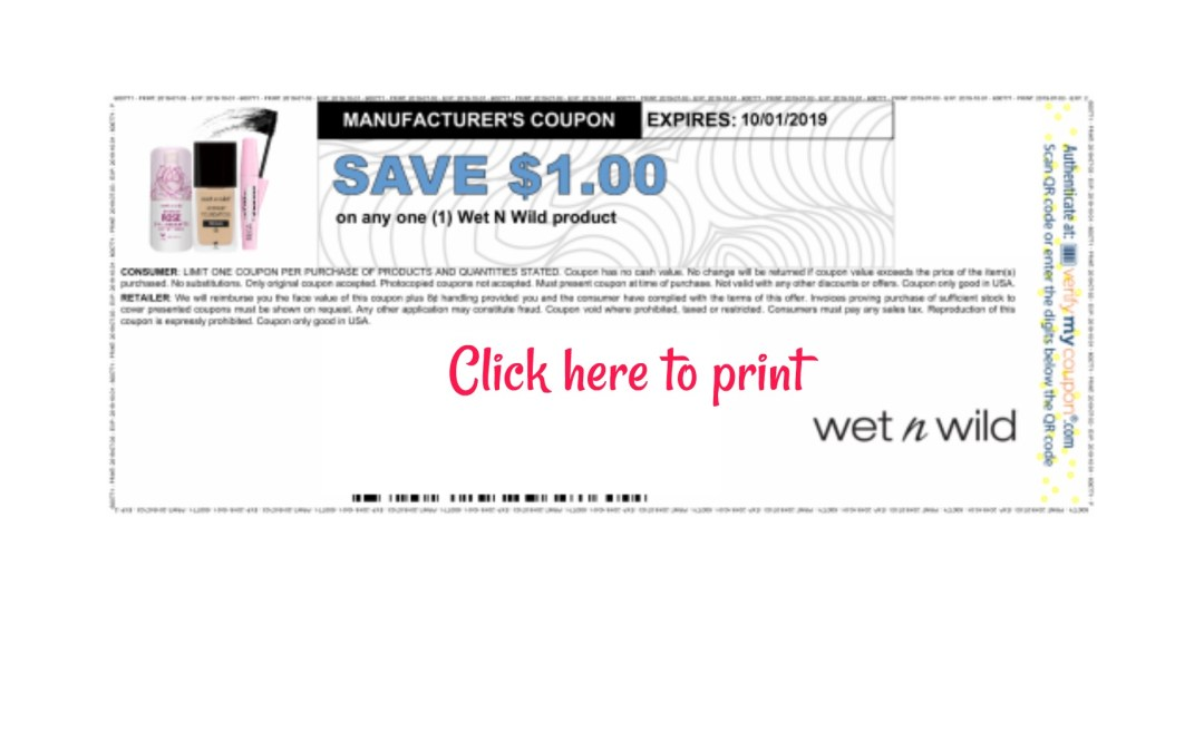 New Wet N Wild Printable Coupon My Publix Coupon Buddy