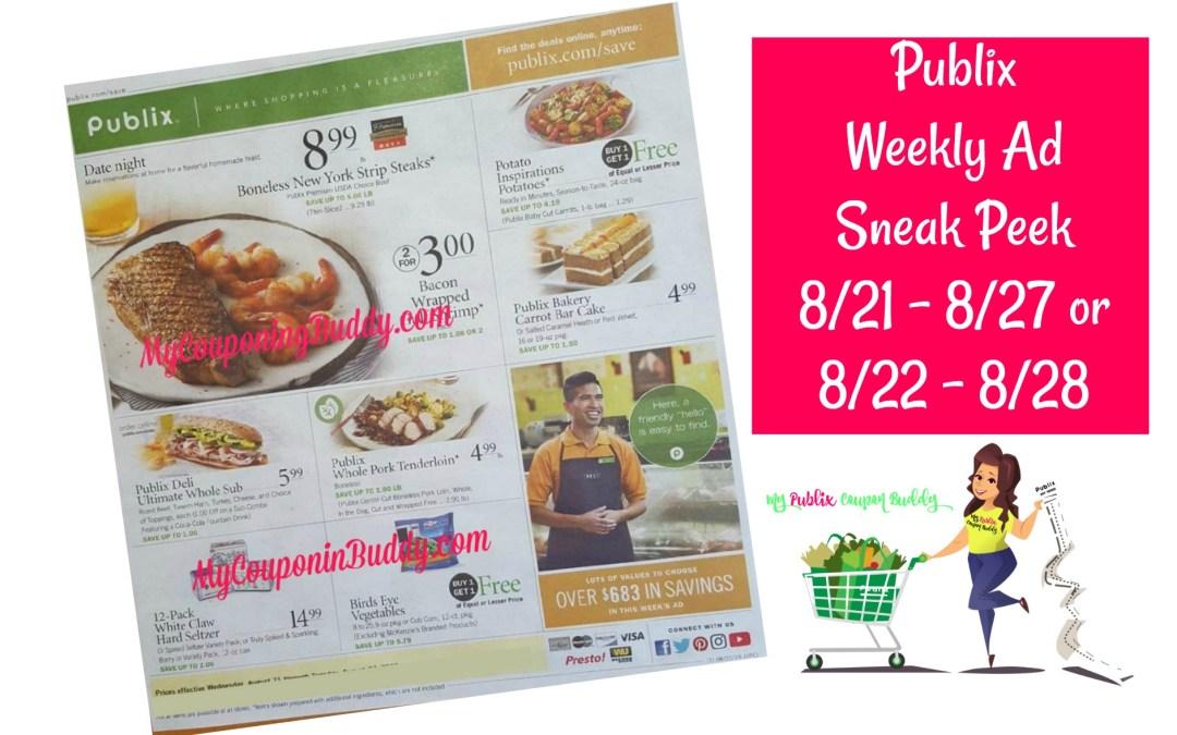Publix Weekly Ad Sneak Peek 8/21 – 8/27 or 8/22 – 8/28