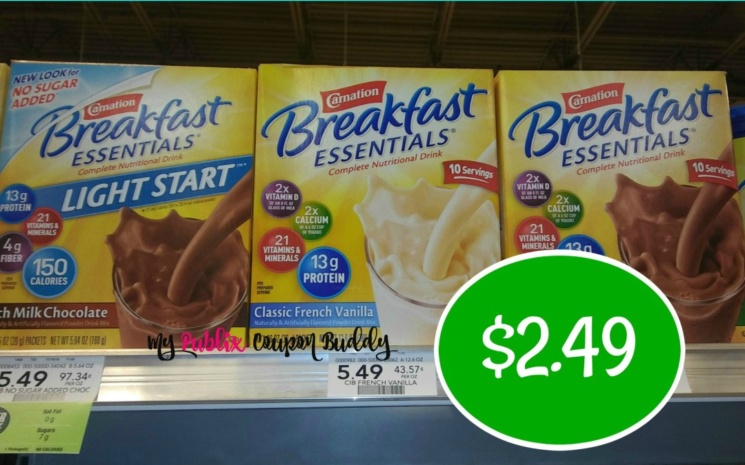 Carnation Instant Breakfast $2.49 at Publix