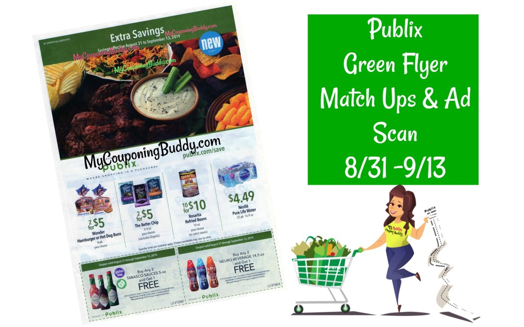 Publix Green Flyer Full Match Ups & Ad Scan 8/31 -9/13