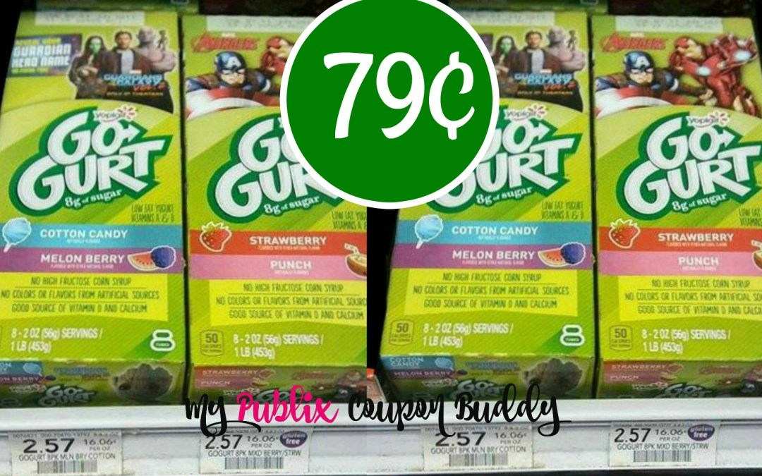 Yoplait Go-Gurt 8pk 79¢ at Publix