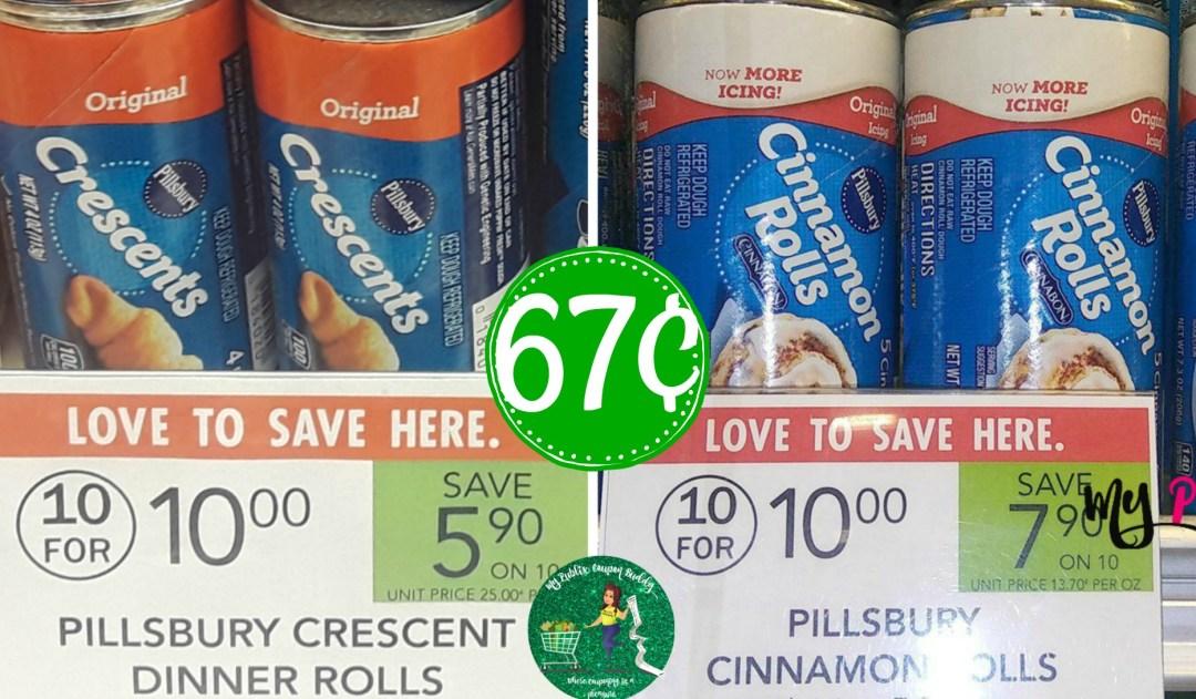 Pillsbury Rolls & Biscuits 67¢ at Pubix