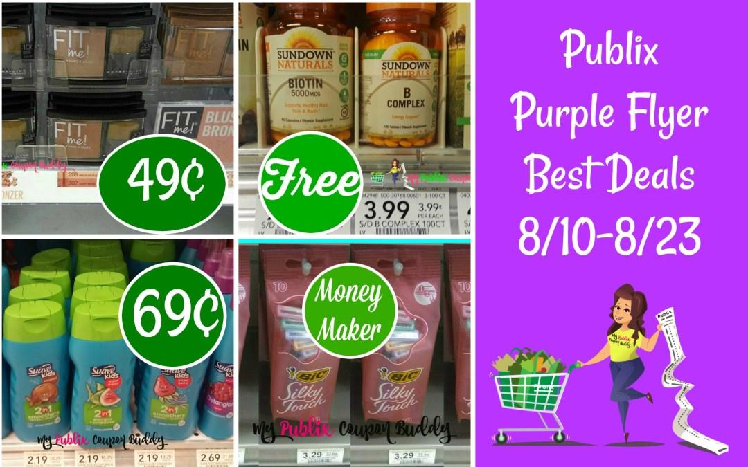 Publix Purple Flyer Best Deals 8/10-8/23