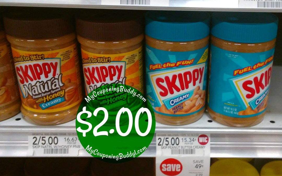 Skippy Peanut Butter $2 at Publix