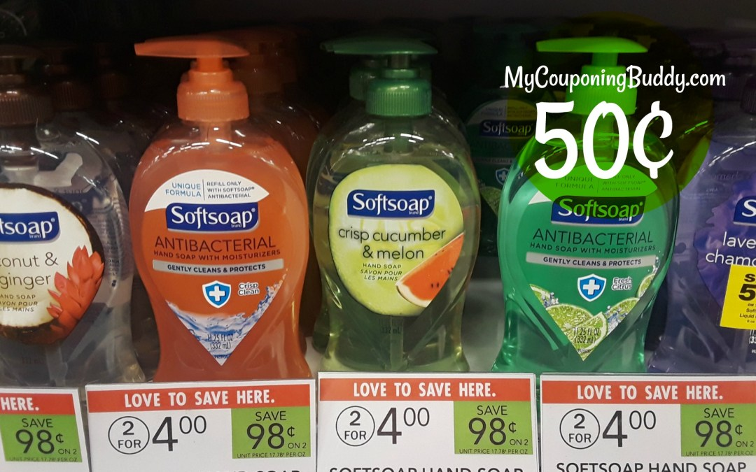 Softsoap Hand Soap 11.25 oz bot. 50¢ at Publix