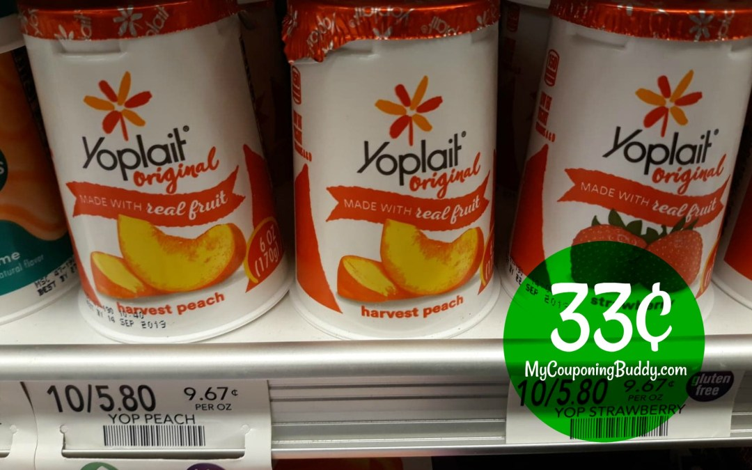 Yoplait Yogurt Cups 33¢ ea at Publix