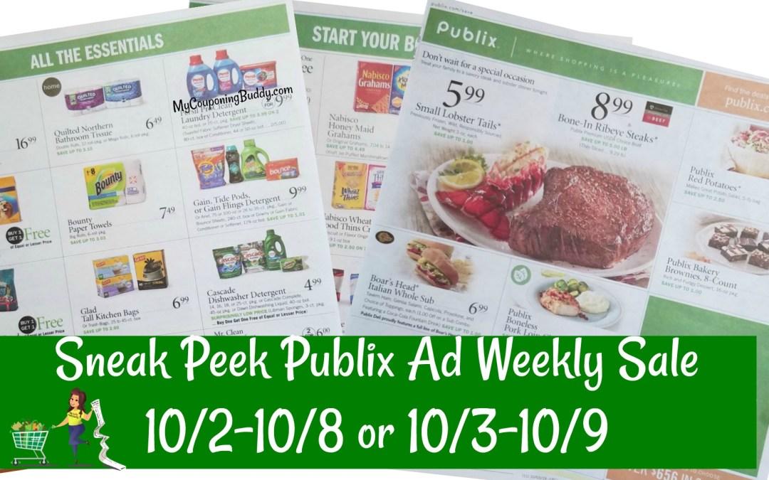 Snek Peek of Publix Weekly Sale Ad 10/2-10/8 or 10/3-10/9