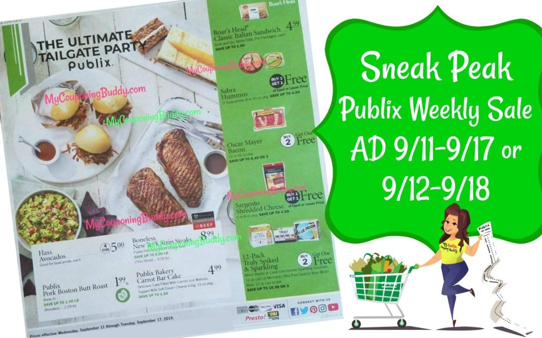 Sneak Peek Publix Weekly Sale Ad 9/11-9/17 or 9/12-9/18
