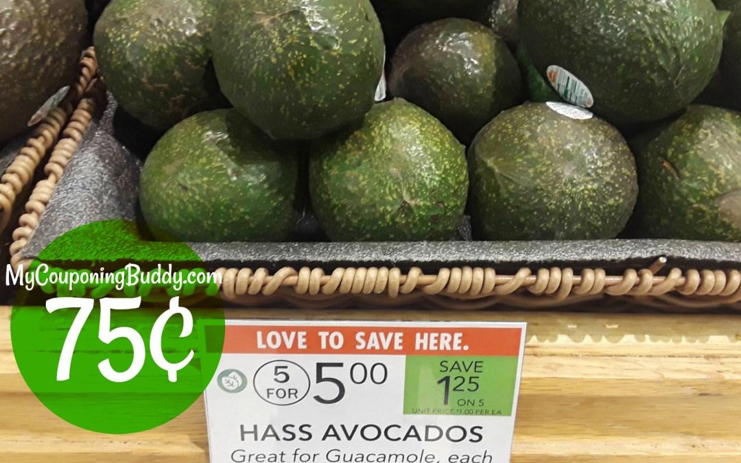Avocados 75¢ at Publix