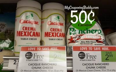 Cacique Cheese 50¢ at Publix