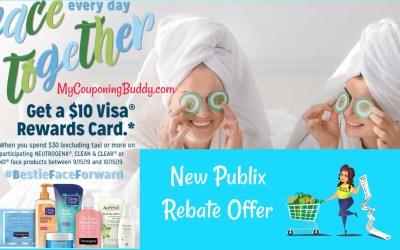 New $10 WYB $30 Publix Rebate on NEUTROGENA®, CLEAN & CLEAR® and AVEENO