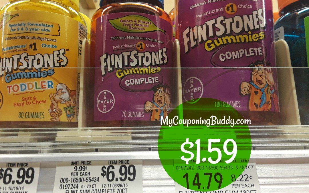 Flintstones Children's Multivitamin $1.59 at Publix
