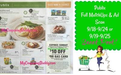 Publix Sneak Peek: Full Match Ups & Ad Scan 9/18-9/24 or 9/19-9/25
