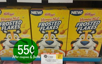 Honey Nut Frosted Flakes   55¢ at Publix