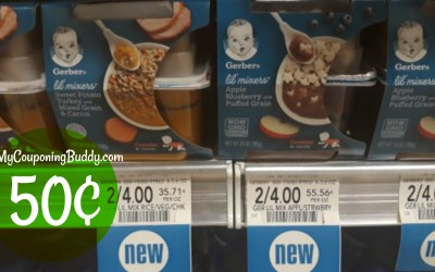 Gerber Lil Mixers Baby Food 50¢ at Publix