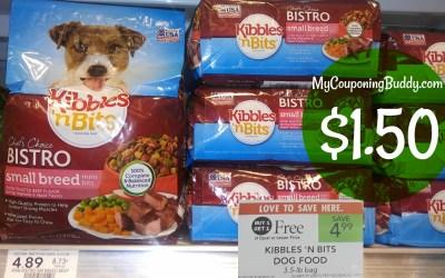 Kibbles 'N Bits Dog Food $1.50 at Publix