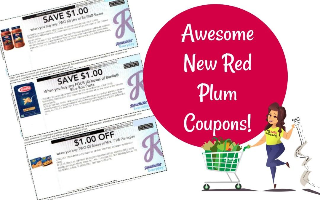 New Red Plum Coupons, Barilla, Centrum, Mrs T's