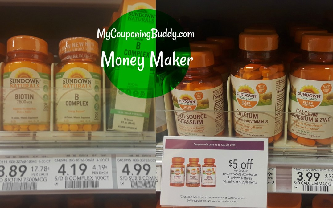 Money Maker on Sundown Vitamins at Publix