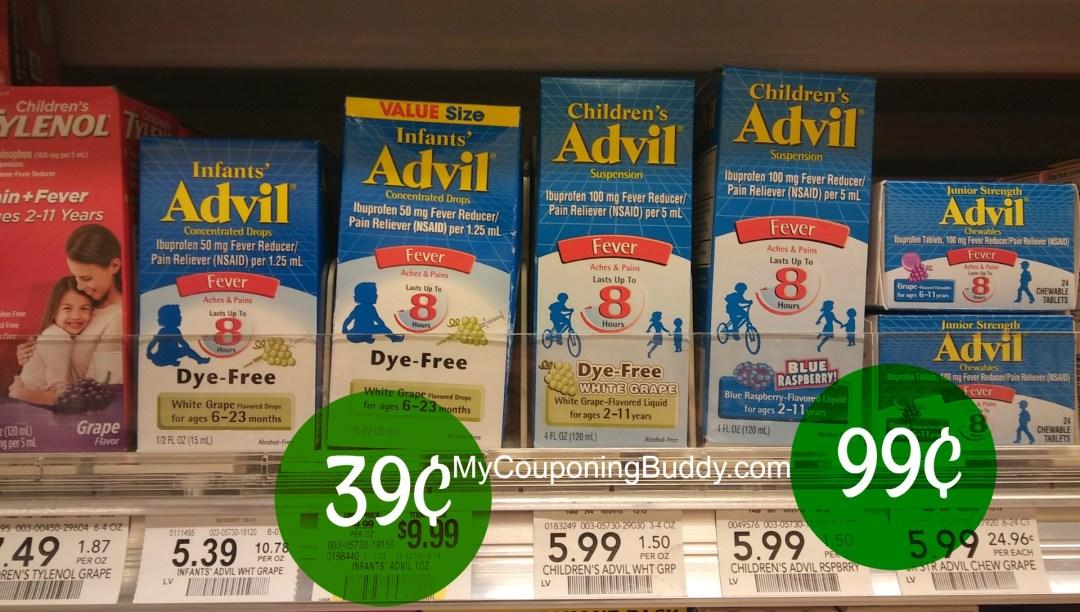 Children's Infant's Advil Publix Couponing
