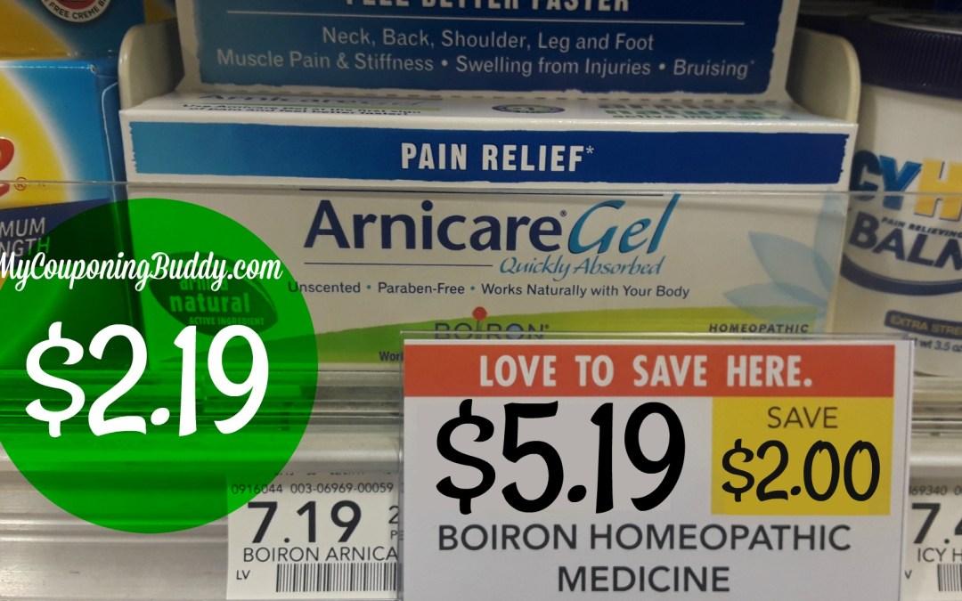 Boiron Arnicare Gel Pain Relief $2.19 at Publix