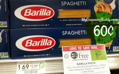 Barilla Pasta 60¢ at Publix