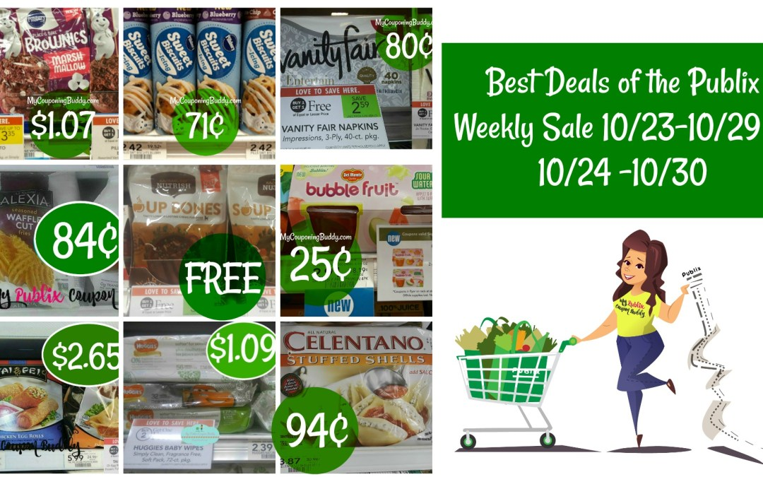 Publix Best Deals of the Weekly Sale 10/23-10/29 or 10/24 -10/30